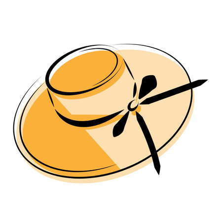 Illustration for Silhouette of a hat. Spring theme. Vector graphics. - Royalty Free Image