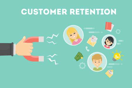 Illustration pour Customer retention concept. - image libre de droit