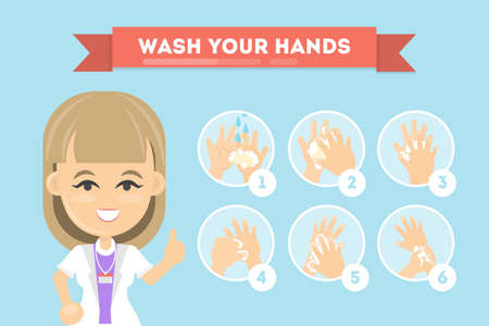 Illustration pour Wash your hands. - image libre de droit