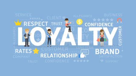 Illustration pour Loyalty concept - image libre de droit