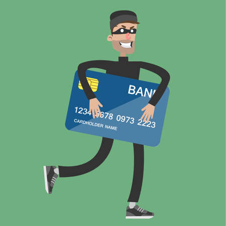 Illustration pour Stealing bank card. - image libre de droit
