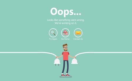 Illustration pour Error page illustration. - image libre de droit