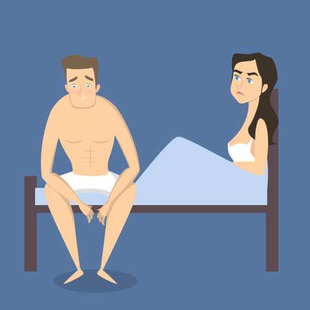 Illustration for Intimate problem illustration. - Royalty Free Image