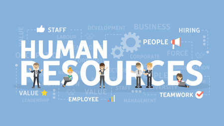 Illustration for Human resources concept illustration. - Royalty Free Image