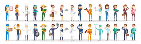 Illustration for Professions couple set. - Royalty Free Image