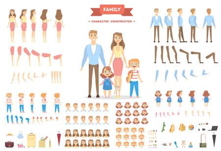Illustration pour Family characters set. - image libre de droit