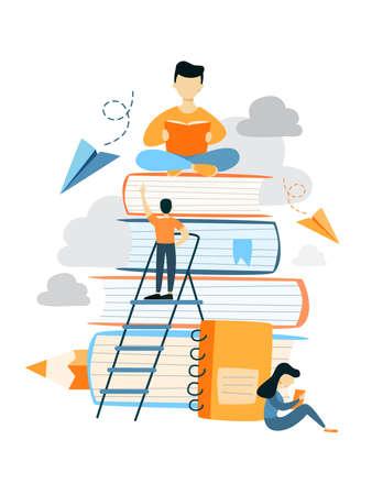 Ilustración de Education for people. - Imagen libre de derechos