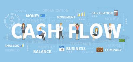 Illustration pour Cash flow concept illustration. Idea of successful business. - image libre de droit