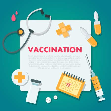 Vaccination concept vector illustration.