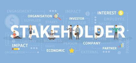 Illustration pour Stakeholder concept illustration. - image libre de droit