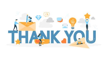 Illustration pour Thank you sign. - image libre de droit