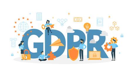 Illustration pour GDPR concept illustration. - image libre de droit