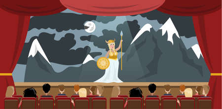 Illustration for Theater building interior. - Royalty Free Image