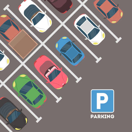 Illustration for Parking in city. - Royalty Free Image