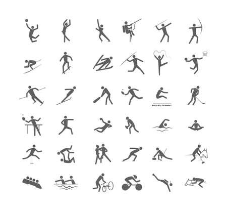 Ilustración de Big set of the sport games - Imagen libre de derechos