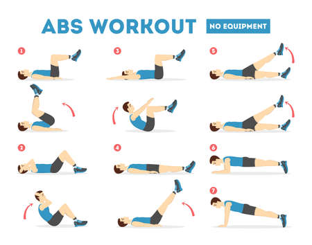 Photo for ABS workout for men. Exercise for perfect body - Royalty Free Image