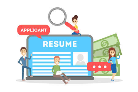 Recruitment concept banner. Idea of employment and human resources. Find candidate for a job. Vacant place. Isolated flat vector illustration