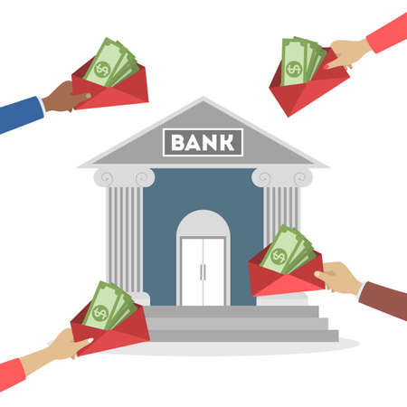 Illustration for Bank concept. Idea of finance, money investment - Royalty Free Image