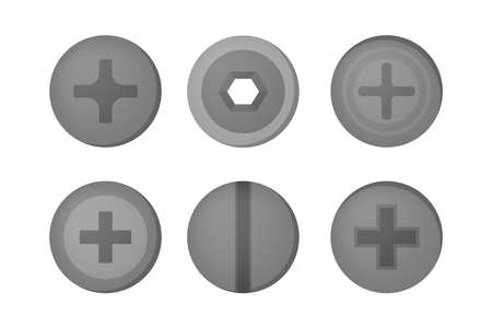 Illustration pour Nail set. Collection of the metal tool for home repair - image libre de droit