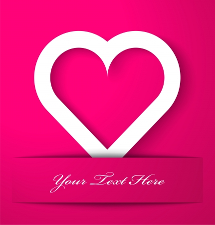 Heart applique on pink background