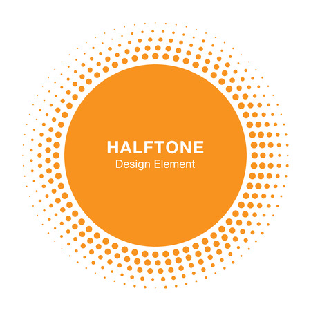 Sunny Halftone Design Element, vector illustration