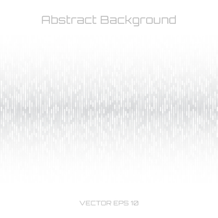 Illustration for Abstract Gray Technology Lines Background. Sound waves oscillating white background. Vector illustration for club, radio, party, concerts or the audio technology advertising background. - Royalty Free Image