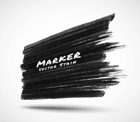 Illustration for Black marker stroke stain texture background in perspective. Grunge textured sale banner. Vector logo illustration. - Royalty Free Image