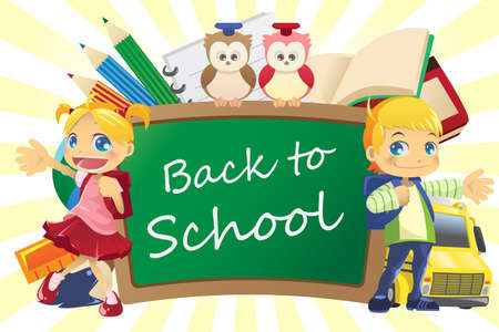 illustration of a back to school background