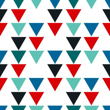 Illustration for Abstract seamless pattern with graphyc elements - triangles.  Avant-garde collage style. Geometric wallpaper for business brochure,  cover design. - Royalty Free Image