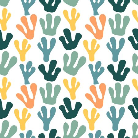 Illustration pour Trendy seamless pattern with graphic abstract geometric shapes. Avant-garde puzzle style. Geometric wallpaper for  cover design. - image libre de droit