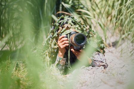 camouflage wildlife photographer.