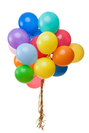 Foto für color balloons isolated on white - Lizenzfreies Bild