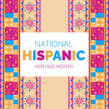 Illustration pour National Hispanic Heritage Month celebrated from 15 September to 15 October USA. - image libre de droit
