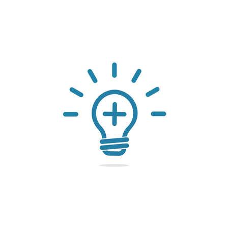 Illustration pour logo positive light or lamp icon design - image libre de droit