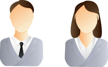 Two user icons - business man and woman