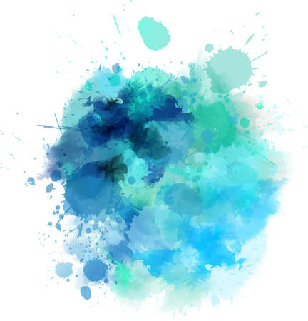 Illustration for Watercolored splash blot in blue color - Royalty Free Image