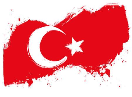 Illustration pour Grunge flag of Turkey for your designs - image libre de droit