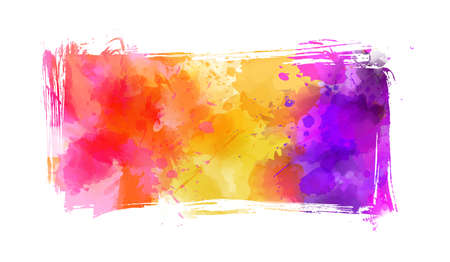 Abstract multicolored brushed grunge banner background