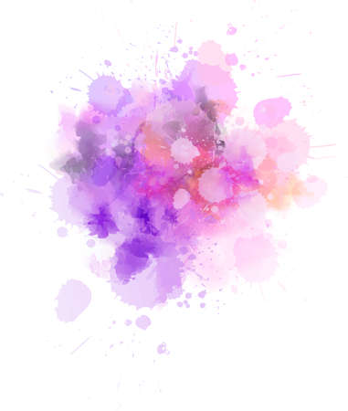 Illustration for Pastel light watercolor paint splash. Template for your designs - Royalty Free Image