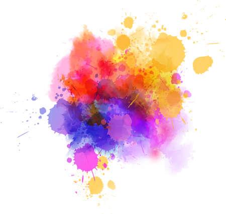 Illustration pour Multicolored splash watercolor paint blot - template for your designs. - image libre de droit