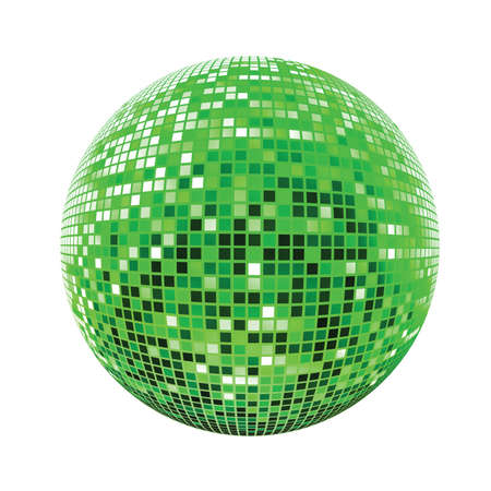 Disco sphere green