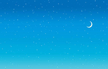Illustration pour Bright calm tranquil serene glitter starlit spark twinkle dusk dust cloud nightfall shape beauty concept. Cute art fantastic nobody nighttime sparkle design draw crescent element cartoon style text - image libre de droit