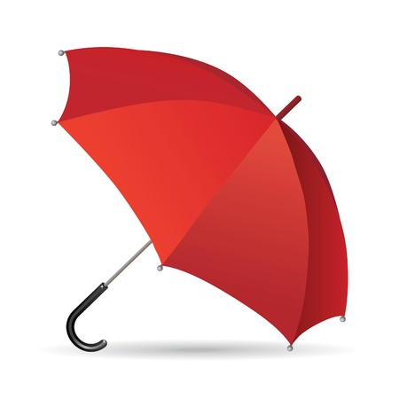 Illustration of a red umbrella - a symbol of protection and conservation.