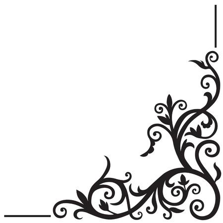 Illustration pour Arabic floral pattern. Element for design corner. - image libre de droit