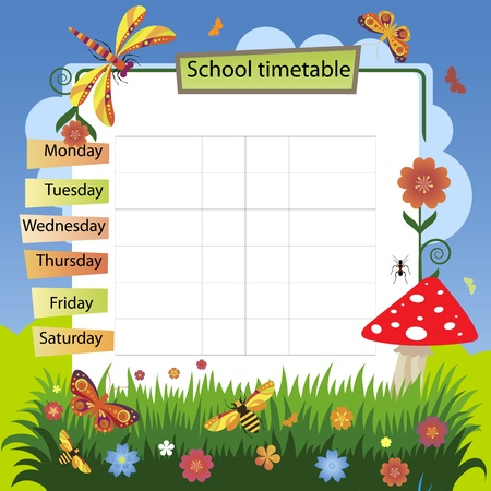 Illustration with the image of summer  Background to the training schedule
