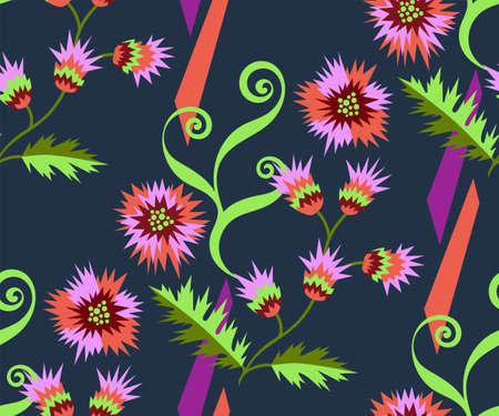 Illustration pour background abstract artwork. Hand drawn ink illustration. Modern ornamental decorative background. - image libre de droit