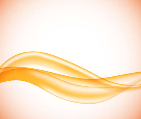 Illustration for Abstract template with orange smooth lines in soft style. Vector illustration. EPS10 - Royalty Free Image