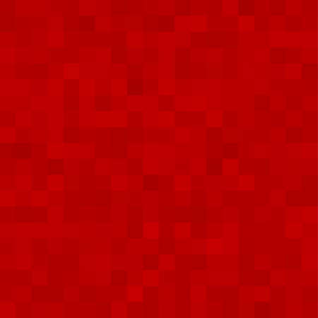 Illustration for Red Square Mosaic Background. Seamless 3D Pixel Mosaic. Vintage Colorful Texture. Vector illustration. - Royalty Free Image