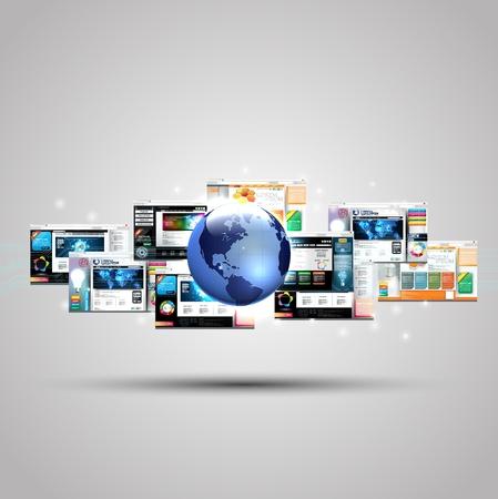 Ilustración de Illustration of Web page design concept - Imagen libre de derechos