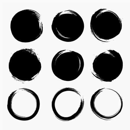 Illustration pour Circle Splatter Ink Dots Vector - image libre de droit